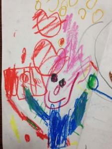 子どもが書いたカメラマンの絵