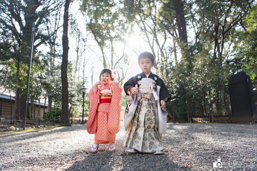 靖国神社で七五三の出張撮影