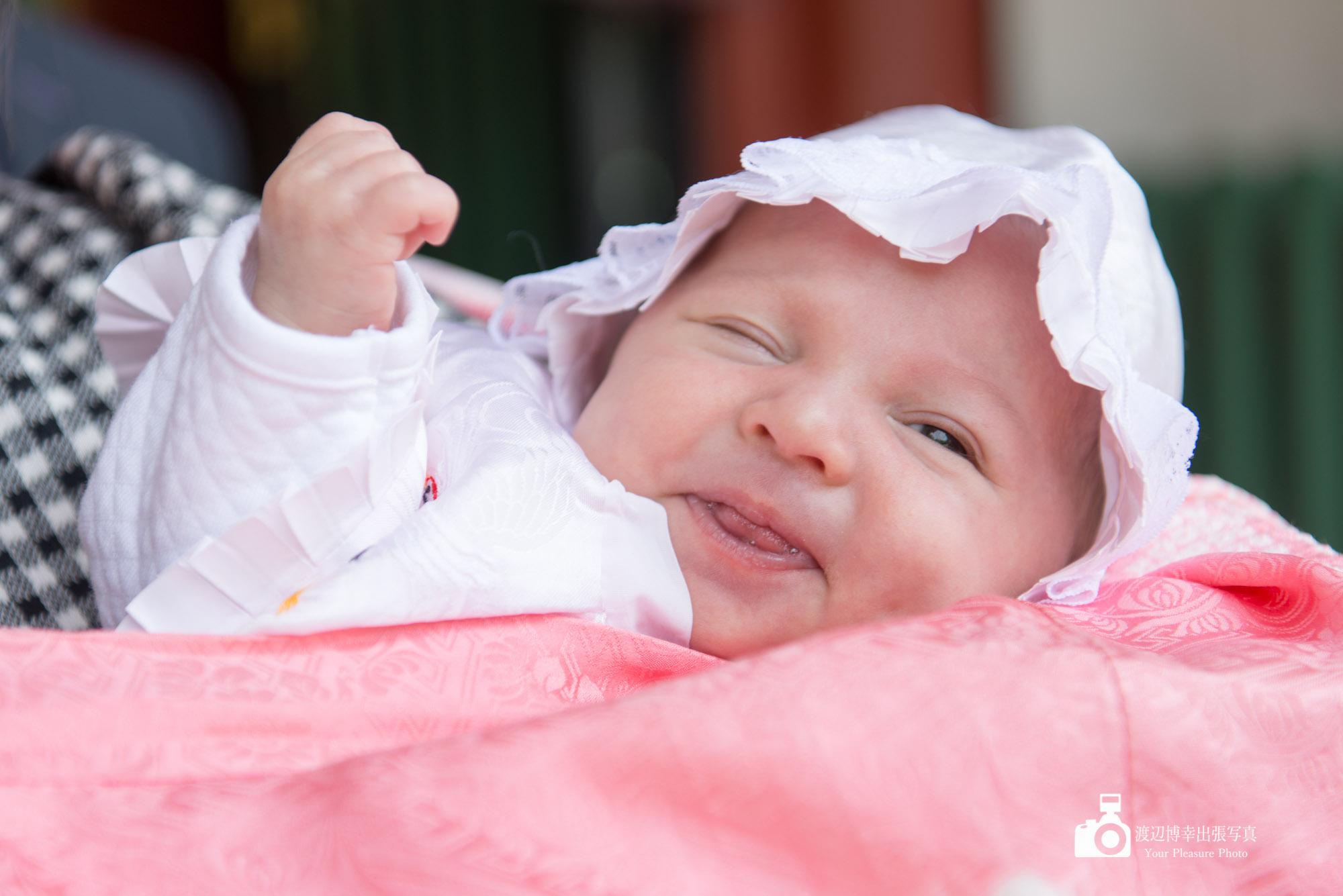 赤ちゃんのアップ