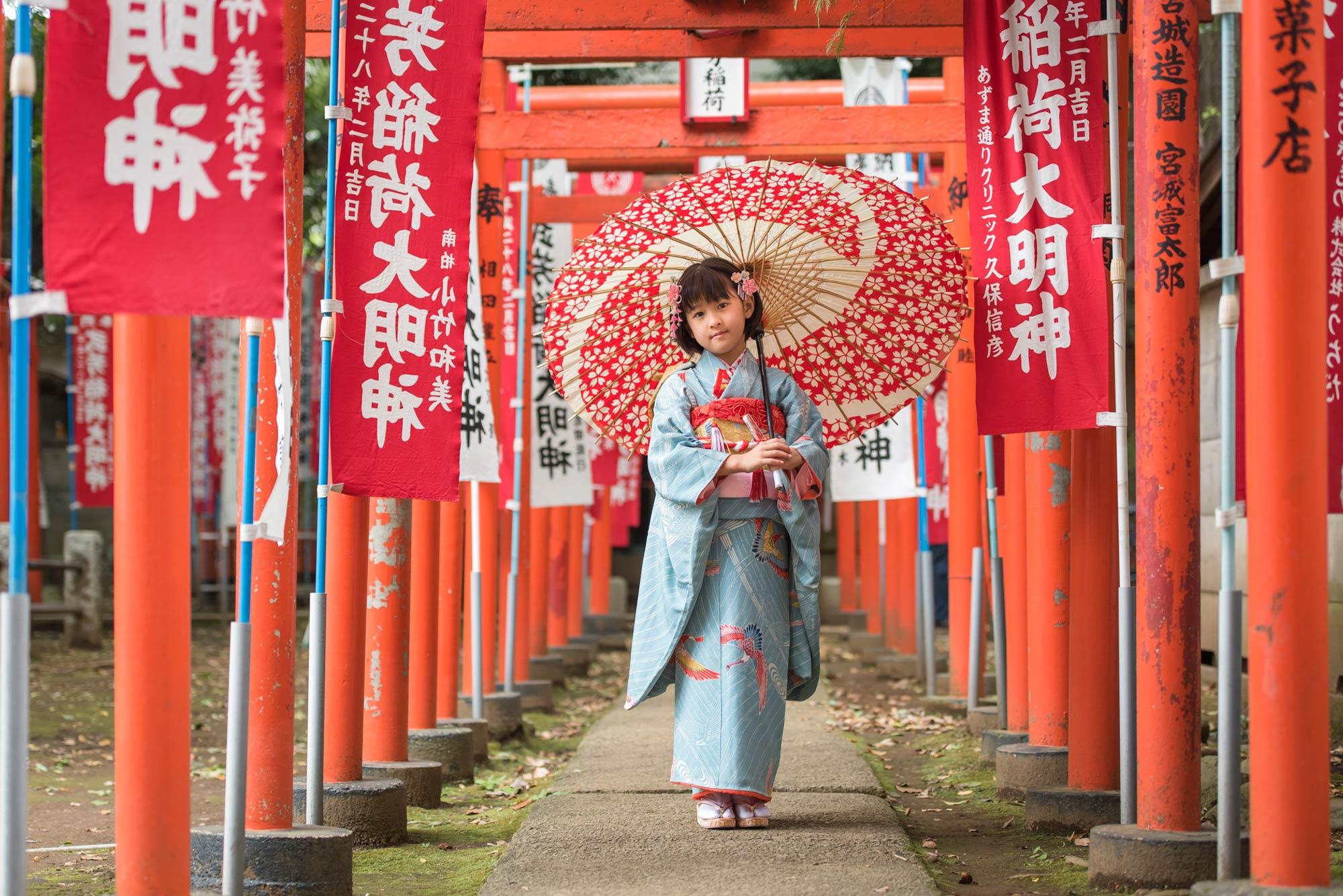 七五三の出張撮影|また会えましたね。|東京都|豊島区|鬼子母神堂