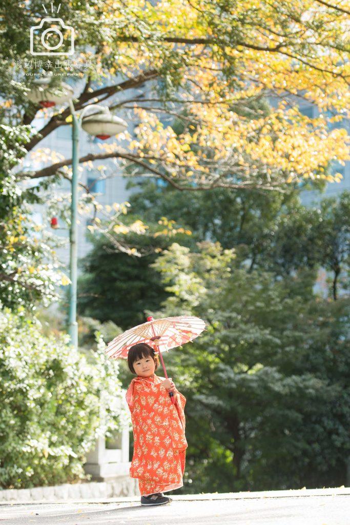 会心の一撃 | 東京 赤坂 | 日枝神社で七五三の出張撮影