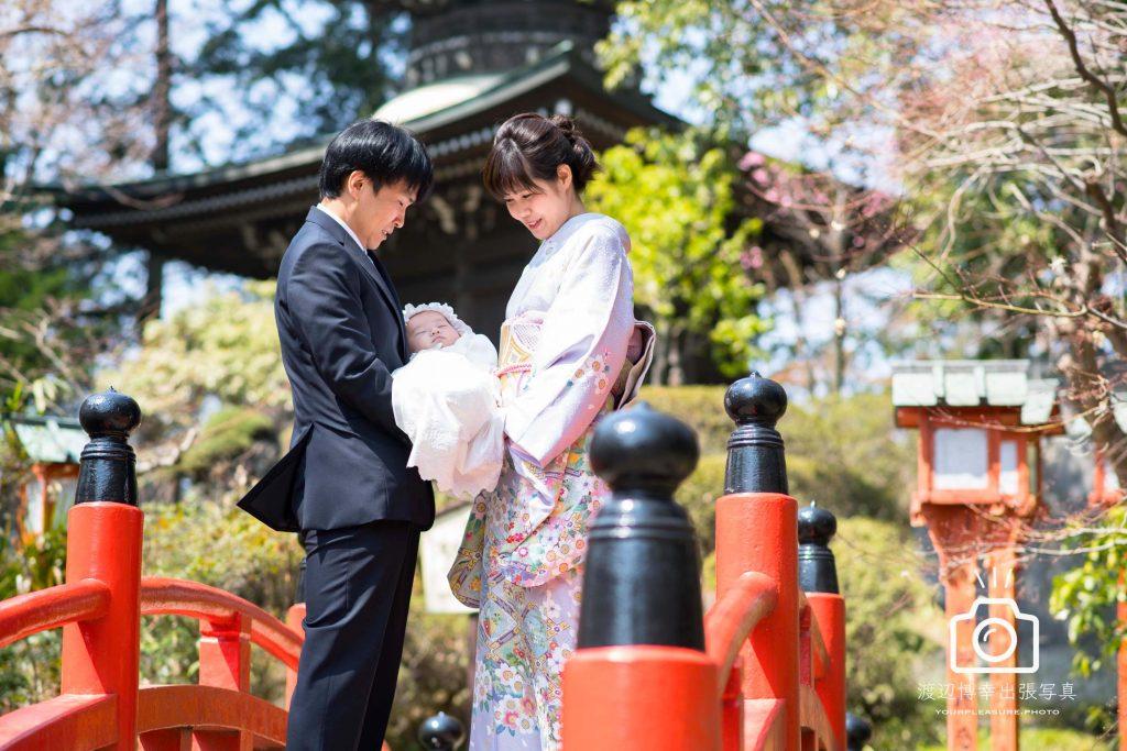 熊谷市・妻沼聖天山の桜とお宮参り