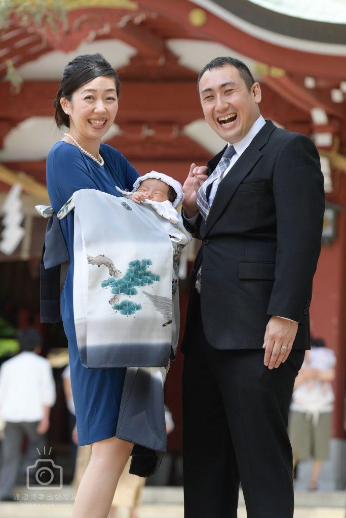 笑顔が一番、お宮参りの写真   久伊豆神社(越谷)