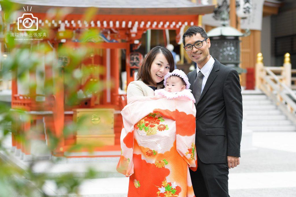 2018年3月15日 日本橋・水天宮でのお宮参りの写真
