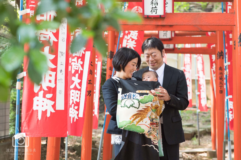 お宮参りの出張撮影|優しいお母さん | 東京都|豊島区|鬼子母神堂
