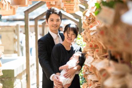 想いを伝えたい。お宮参りの写真|川越氷川神社