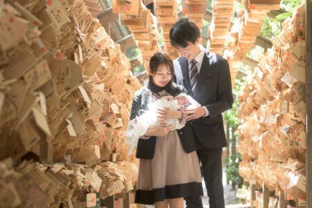 お宮参りの写真、川越氷川神社