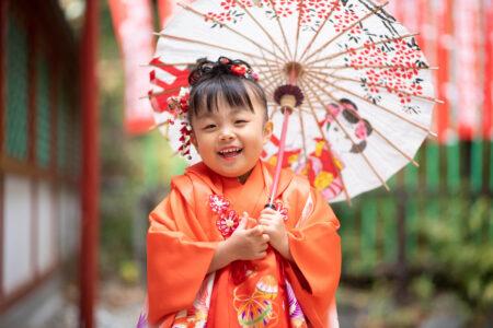 日枝神社で七五三出張撮影|リカちゃん人形と記念撮影