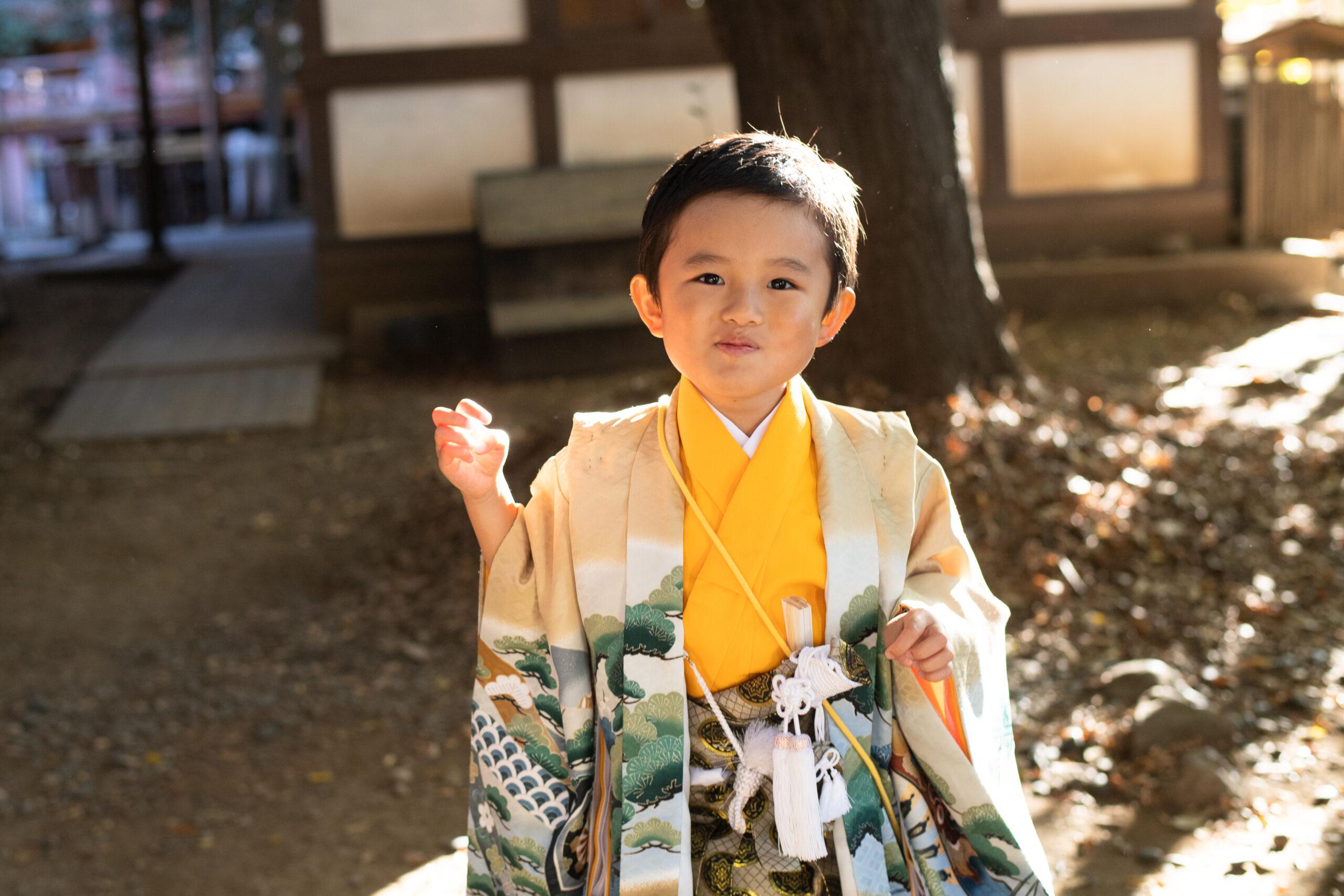 みんなで元気な七五三|川越氷川神社|五歳の男の子