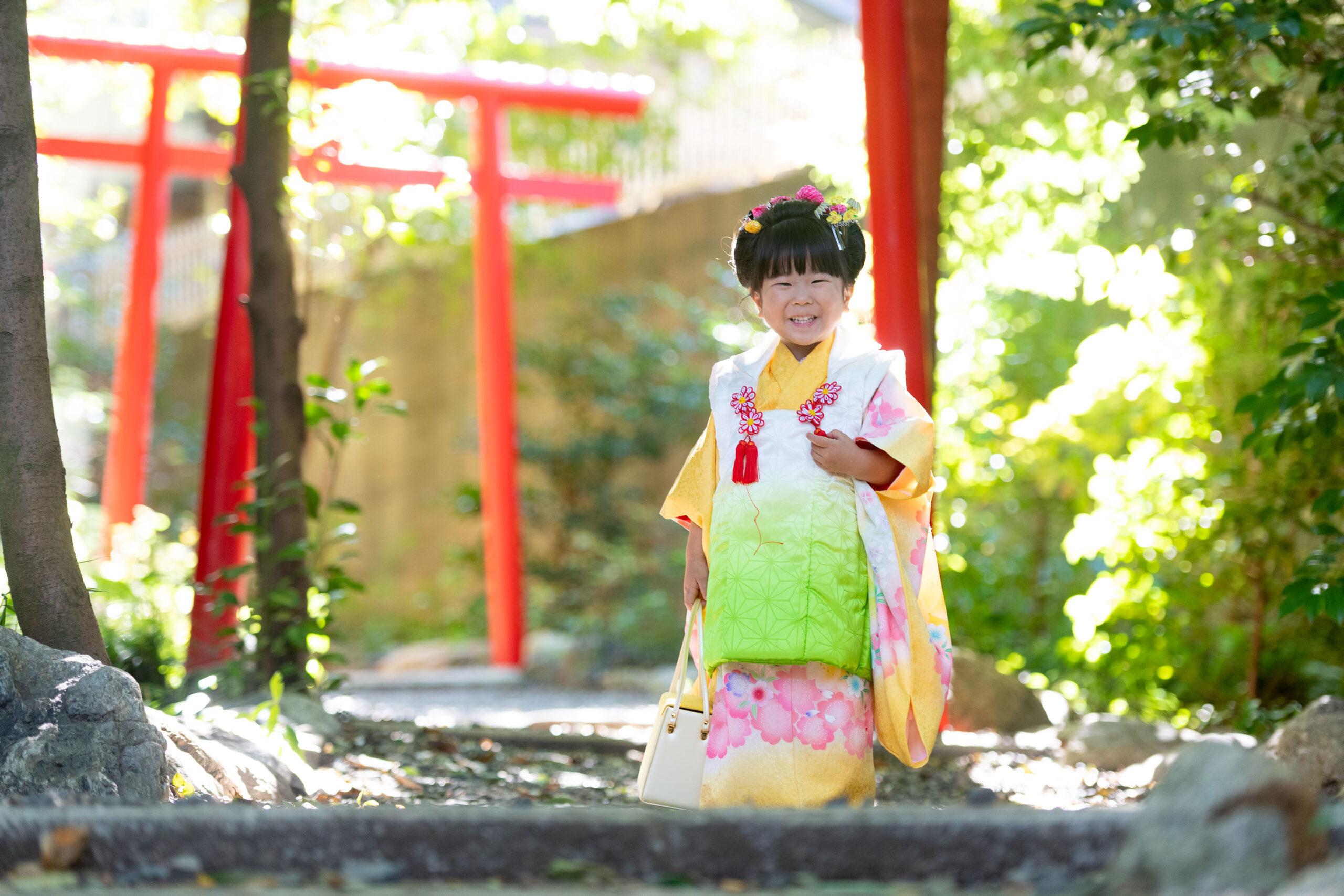大宮氷川神社七五三の撮影 輝いてますね 4回目のリピーターさん